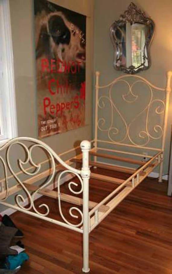 Doble marco de la cama de hierro fundido niños niño cama