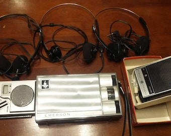 Vintage Emerson 8-Transistor Radio; General Electric P-2790 Pocket Transistor; Vintage Westminster AM/FM Radio