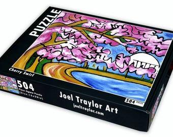 "Cherry Swirl ~ 504 piece puzzle ~ 16""x20"""