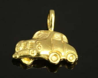 2 pcs 18 mm car shape gold plated alloy finding charm pendant 18