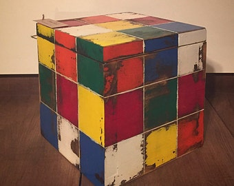 Keepsake box Rubik's Cube Keepsake Box for kids Wooden Personalized