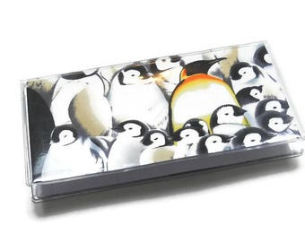 Checkbook Cover Penguins