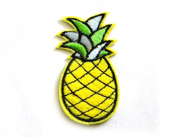 Pineapple Embroidered Patch Appliqué