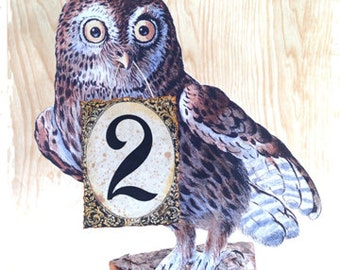 Harry Potter wedding table number Harry Potter party decor owl post Hedwig enchanted forest woodland Hogwarts Harry Potter room decor sign
