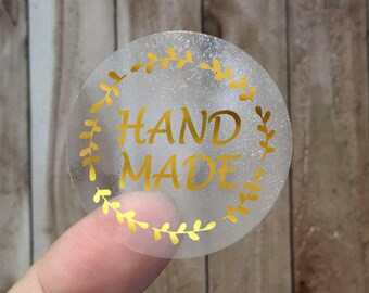 HANDMADE - Gold Foil Labels - Sticker - Seal - #08