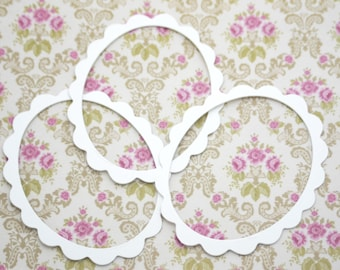Chipboard Scalloped Oval Frame Die Cuts