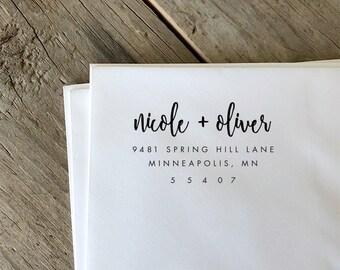 Return Address Stamp, Address Stamp, Self Inking Return Address Stamp, Custom Rubber Stamp, Personalized Self Inking Wedding Stamper
