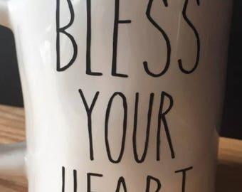 Farmhouse BLESS YOUR HEART Vinyl Decal