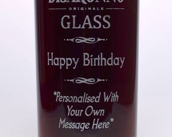 Engraved/Personalised BIRTHDAY DISARONNO HighBall Glass Gift For Girls/Boys/Men/Ladies/Women/18th/21st/30th/40th/50th/60th/65th/70th