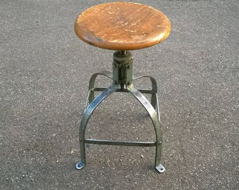 Industrial stool workshop model Bennett 203 industrial stool old factory plant