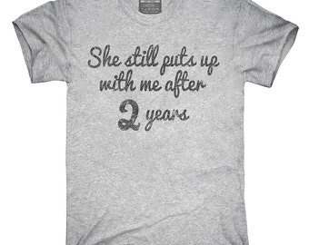 Funny 2nd Anniversary T-Shirt, Hoodie, Tank Top, Gifts