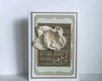 Wedding Engagement Love Handmade Card
