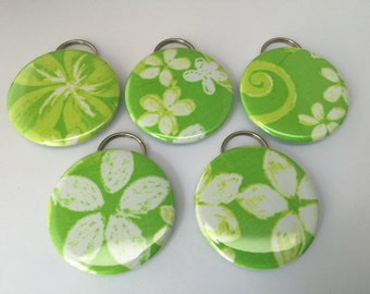 """Lilly Pulitzer """"Green Restless Native"""" Fabric Bottle Openers"""
