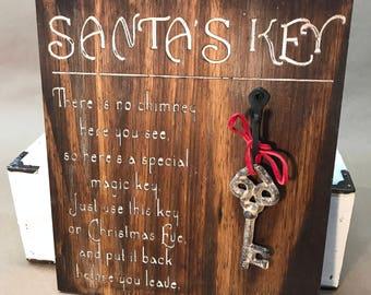 Santa's Key Sign - Brown
