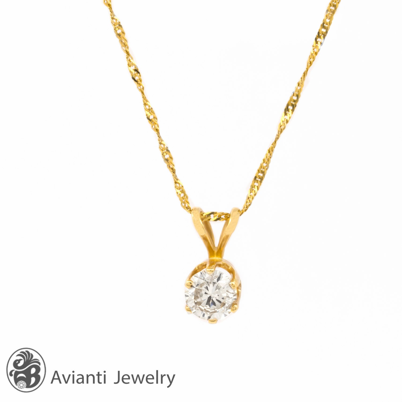 Diamond necklace diamond pendant diamond solitaire necklace zoom aloadofball Image collections