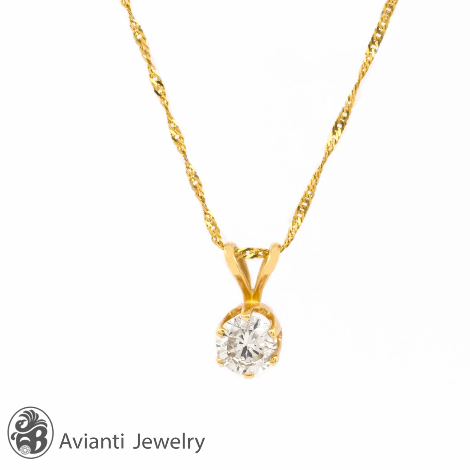 s simulated necklace product jewelers friedman pendant solitaire diamond round