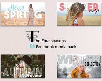 Facebook Media Pack, Facebook Banner, Facebook Timeline, Facebook Template, INSTANT DOWNLOAD