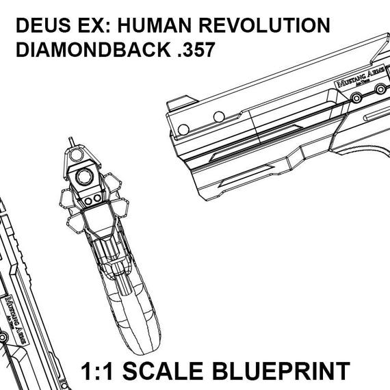 Deus ex human revolution diamondback 357 revolver deus ex human revolution diamondback 357 revolver blueprint malvernweather Choice Image