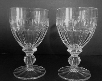 GOBLETS/WATER Glasses by TOWLE Lead Crystal...in Excellent Condition