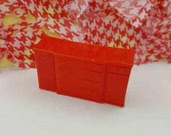 Marx Esszimmer Sideboard Spielzeug Puppenhaus traditionellen Stil Red weichem Kunststoff
