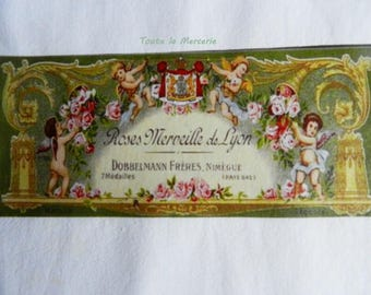 transfer 60.  Lovely original transfer on fabric: vintage French SOAP label