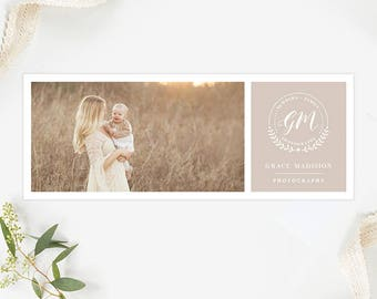 Facebook Cover Template for Photographers, Facebook Timeline Cover Template Photoshop, Facebook Cover Photo, Facebook Header Template  FB197