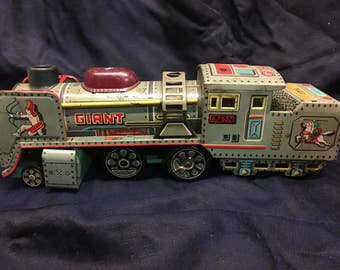 "1950's Japanese Litho train ""giant"""