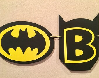 Batman Birthday Decorations Batman Banner Batman Party Batman Decorations Super Hero Birthday Boy Party Decorations Batman Party Decorations
