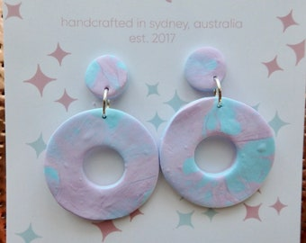 Cloud 9 Circle Dangle Earrings