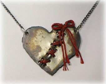 Broken Heart Necklace, Rustic
