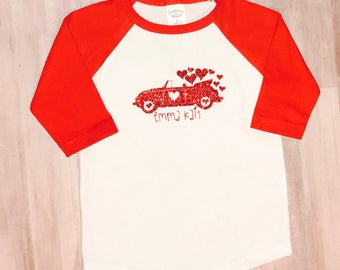 Love Bug/Personalized/Valentine Raglan T-Shirt