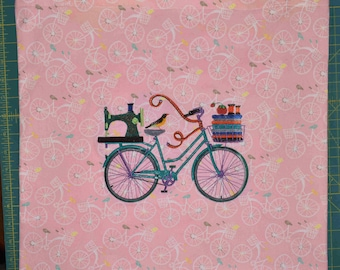 Oversized Tote Bicycle Embroidery