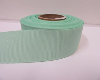 Grosgrain Ribbon 3mm, 6mm 10mm 16mm 22mm 38mm 50mm Rolls, Dark Mint Green ,10, 20 or 50 metres, Ribbed Double sided,