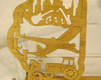 US STATE of ILLINOIS Scroll Saw Plaque