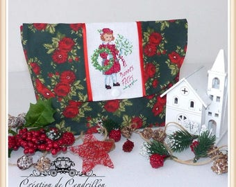 Kit embroidered, Cross-stitch embroidery, winter, Happy Holidays,finished cross stitch