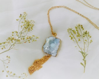 Naiads Deep Sea Druzy Necklace