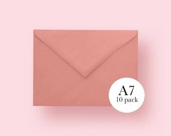 5x7 Coral Envelopes | A7 Coral Envelopes | Set of 10