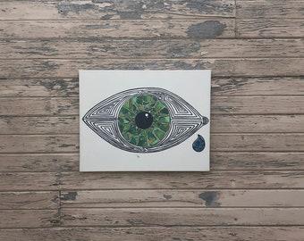 Green Eye Painting