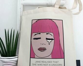 Not A Unicorn   Unicorn Bag   Pop Art Tote   Personalised Unicorn Bag   Unicorn