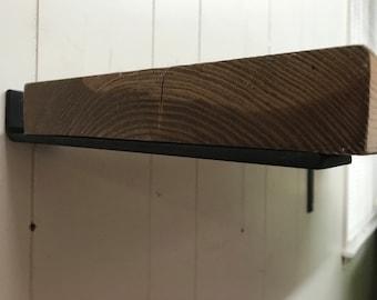 10 inch floating shelf bracket 2 inch wide x 1/4 thick. Hidden floating shelf brackets.