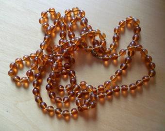 Vintage Amber Glass Necklace