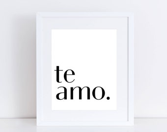 Baby Shower Quotes In Spanish ~ Spanish i love you etsy