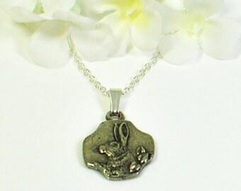 Silver Rabbit Necklace Romeo- Rabbit Jewelry- Bunny Necklace- Pet Bunny Rabbit- Woodland Animal- Nature Jewelry- Bunny Lover Gift