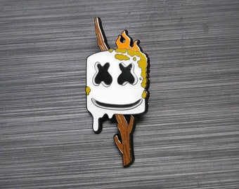 Marshmello Enamel Lapel Pin - EDM DJ Hat Pin