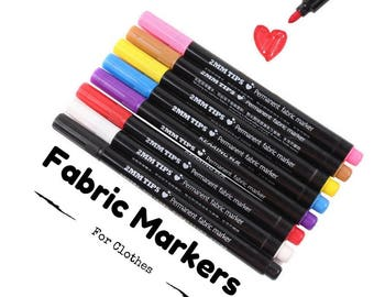 Permanent Fabric Paint Markers for T-Shirt, Pen For Clothes, Shoes, DIY Crafts