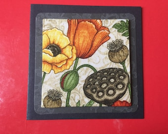 Fabric Flower Card's - see variations
