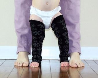 Black Snowflakes Baby Leg Warmers Sale