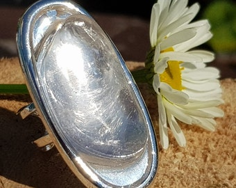 Clear Quartz Crystal Statement Ring