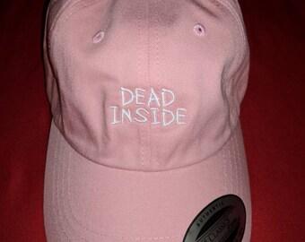 Dead Inside Pink Strap-Back Dad Hat