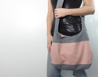 Color block purse hobo bag. Design your own large purse or small handbag, cross body bag or shoulder purse.